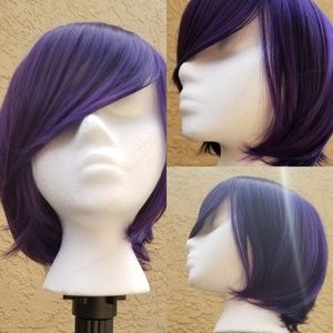 Short Purple Synthetic Wig ☆ Brand New ☆